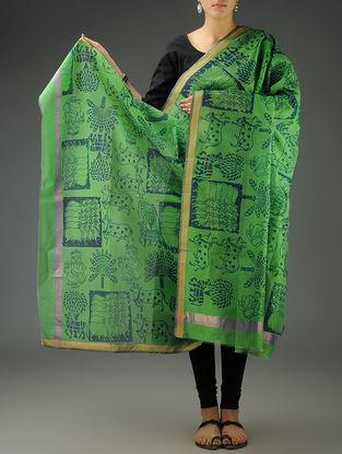 Green Cow Maheshwari Printed Dupatta