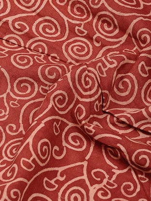 Red-Ivory Ajrakh-printed Cotton Fabric