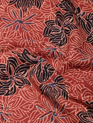 Red-Black Ajrakh-printed Cotton Fabric