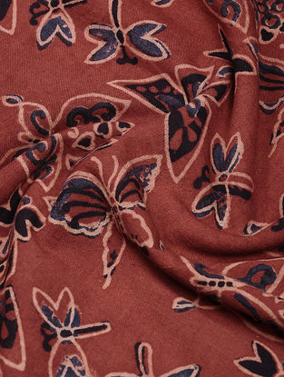Red-Blue Ajrakh-printed Cotton Fabric