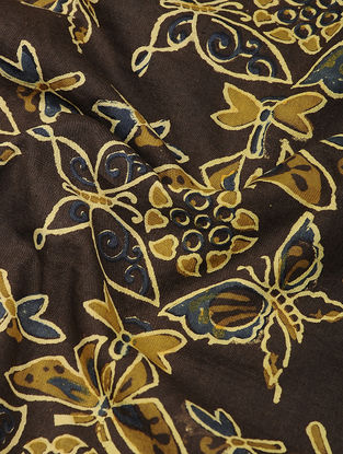 Brown-Ochre Ajrakh-printed Cotton Fabric