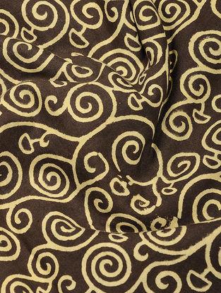 Brown-Beige Ajrakh-printed Cotton Fabric