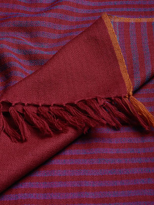 Maroon-Purple Wool Shawl