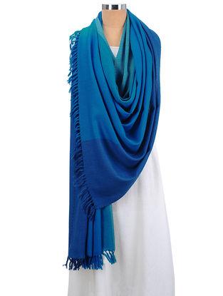 Blue-Sea Green Wool Shawl