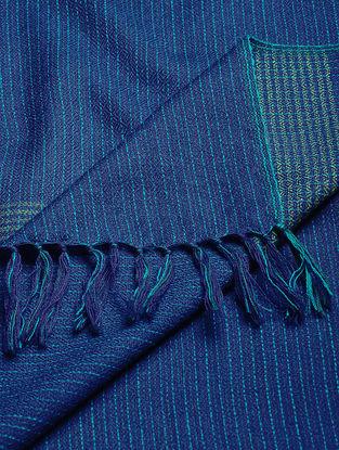 Blue Wool Shawl