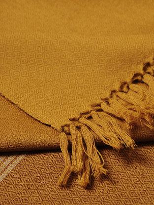 Brown-Ochre Wool Shawl