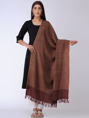 Maroon-Brown Wool Shawl