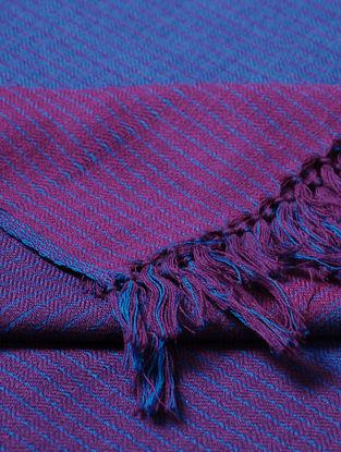 Blue-Purple Wool Shawl