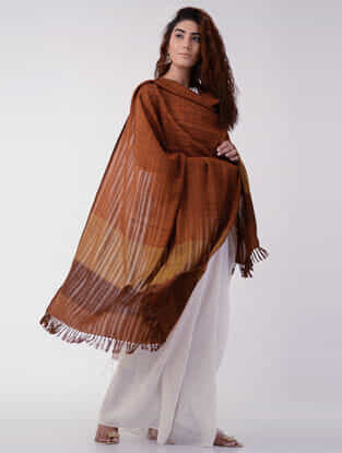 Brown Wool Shawl
