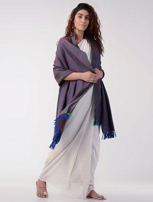 Blue-Brown Wool Shawl