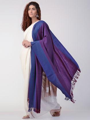 Purple-Blue Wool Shawl