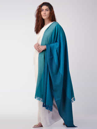 Blue-Green Wool Shawl