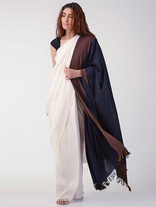 Black-Brown Wool Shawl