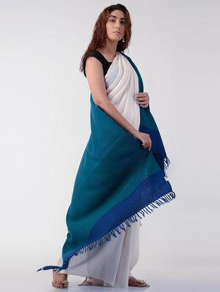 Sea Green-Blue Wool Shawl