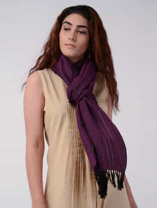 Purple Wool Stole
