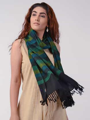Green-Black Wool Stole