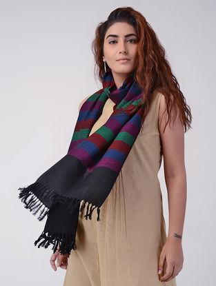 Magenta-Black Wool Stole