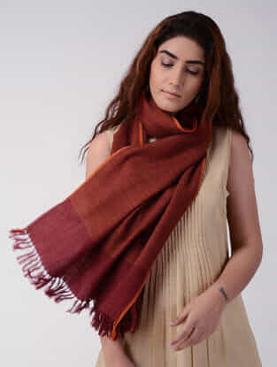 Red-Orange Wool Stole