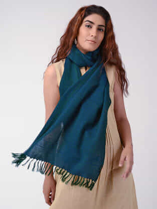 Blue-Green Wool Stole