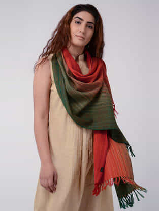 Red-Green Wool Stole