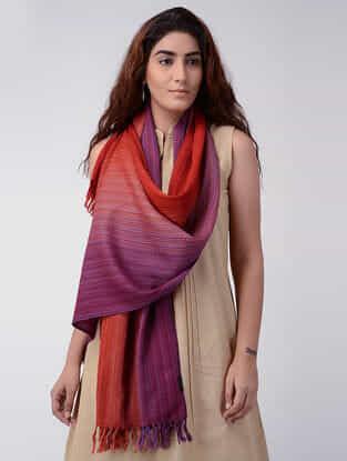 Red-Magenta Wool Stole
