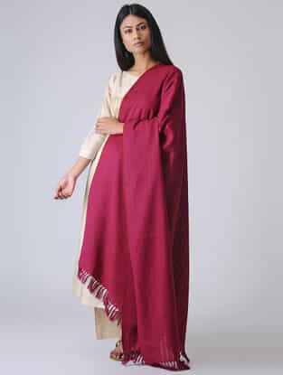 Pink Merino Wool Shawl