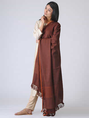 Maroon Merino Wool Shawl