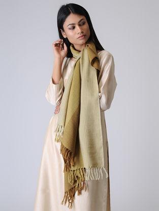 Beige-Ivory Merino Wool Stole