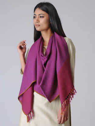 Purple-Pink Merino Wool Stole