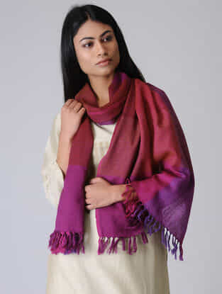 Red-Pink Merino Wool Stole