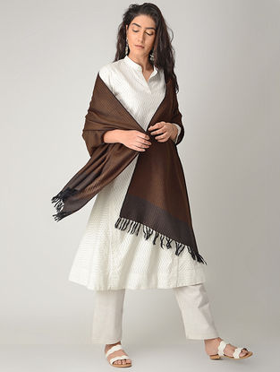 Brown Merino Wool Shawl