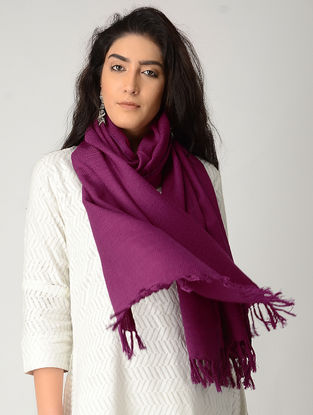 Purple Merino Wool Stole