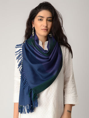 Blue-Green Merino Wool Stole