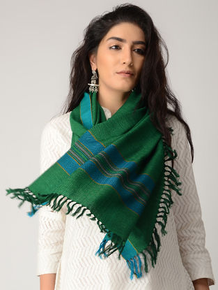 Green-Blue Merino Wool Stole