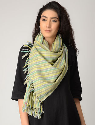 Yellow-Green Merino Wool Stole