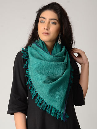 Green Merino Wool Stole