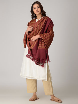 Red-Brown Merino Wool Shawl