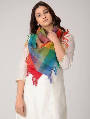 Multicolored Merino Wool Stole