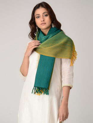 Green-Yellow Merino Wool Stole