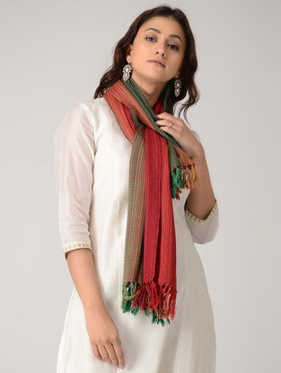 Red-Green Merino Wool Stole