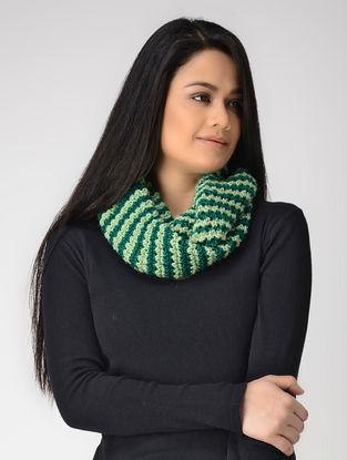 Green Hand-knitted Wool Loop