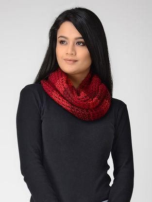 Pink Hand-knitted Wool Loop