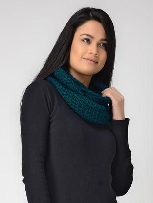 Blue Hand-knitted Wool Loop