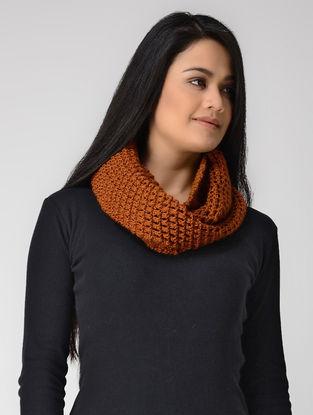 Orange Hand-knitted Wool Loop