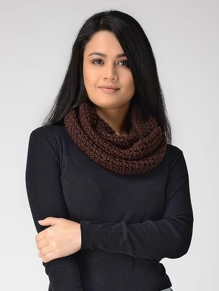 Maroon Hand-knitted Wool Loop