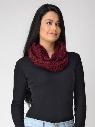 Magenta Hand-knitted Wool Loop