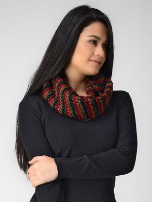 Beige-Green Hand-knitted Wool Loop