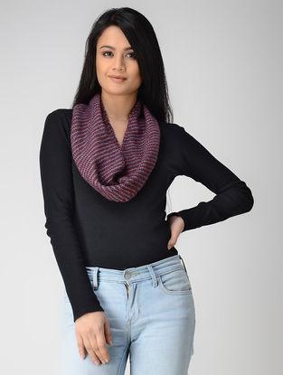 Blue-Beige Hand-knitted Wool Neck Warmer
