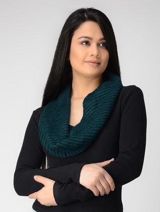 Green-Blue Hand-knitted Wool Neck Warmer