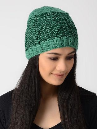 Green Hand-knitted Wool Cap